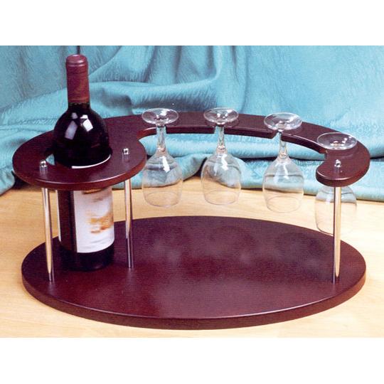 Мини бар с местом для бутылки и 4
